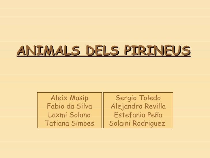 Animals dels pirineus  the end-