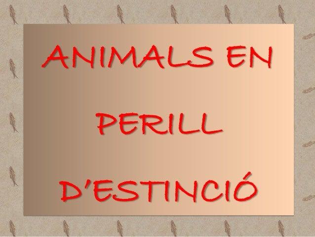Animals en perill d'estinció