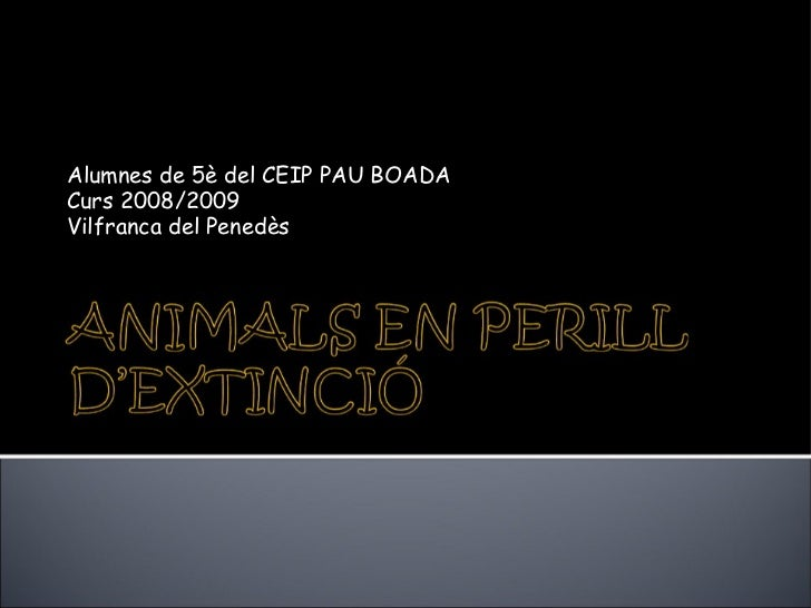 Animals en perill d'extinció