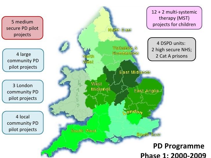 5 medium secure PD pilot projects 3 London community PD pilot projects 4 local community PD pilot projects PD Programme  P...