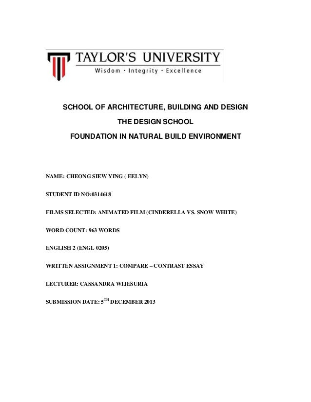 SCHOOL OF ARCHITECTURE, BUILDING AND DESIGN THE DESIGN SCHOOL FOUNDATION IN NATURAL BUILD ENVIRONMENT  NAME: CHEONG SIEW Y...