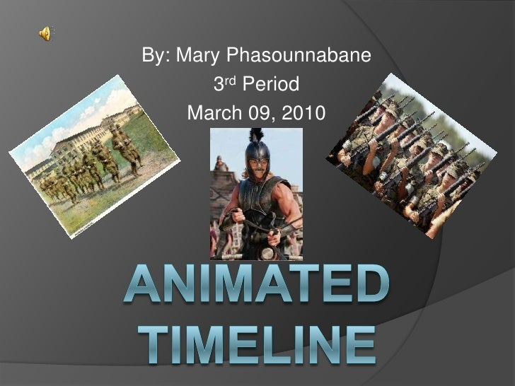 Animated Timeline Project Mary