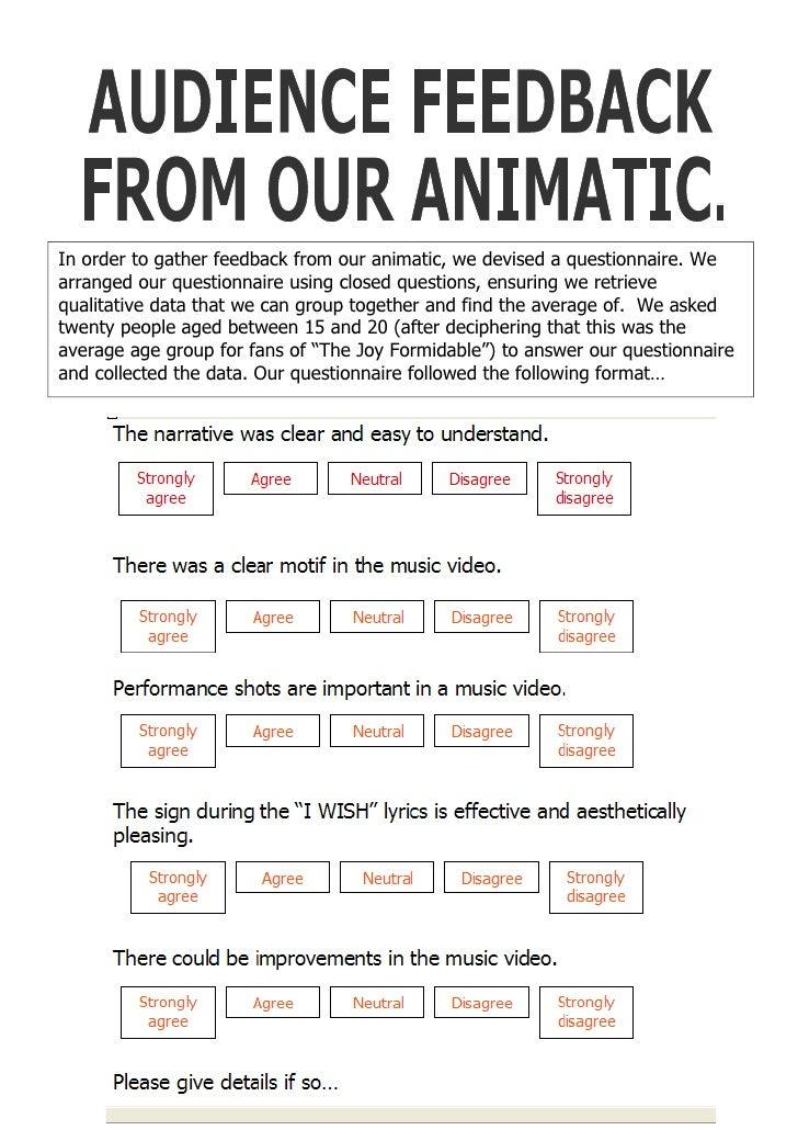 Animatic Feedback