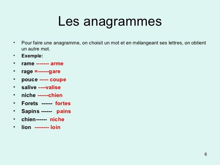 exemple de anagramme