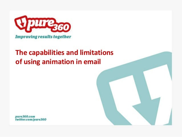 The capabilities and limitations of using animation in email