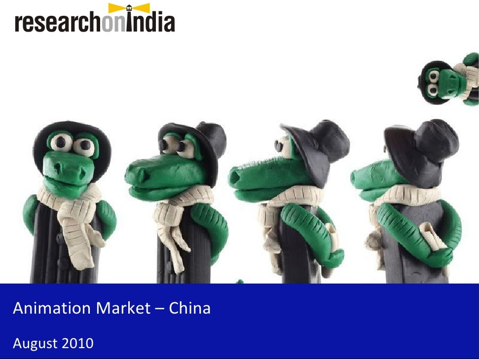 Market Research Report : Animation Market in China 2010