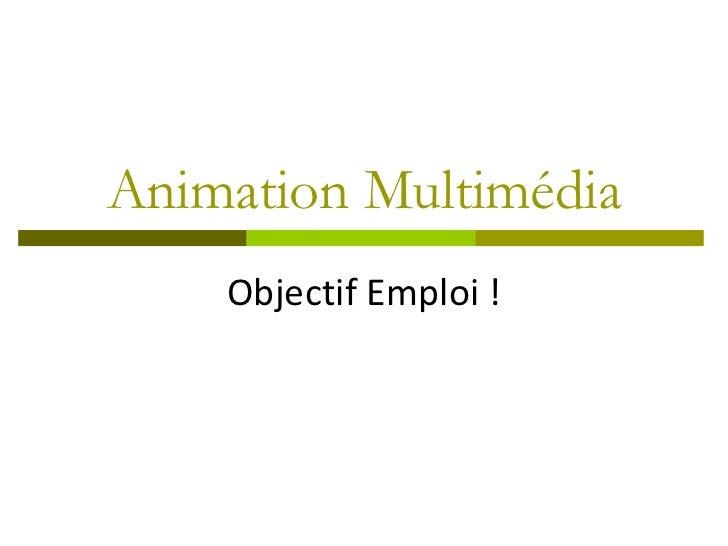 Animation Multimédia    Objectif Emploi !