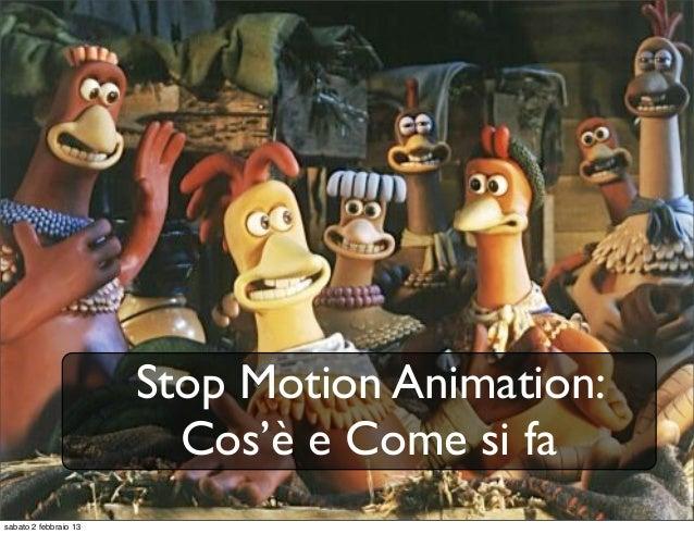 Note per workshop Stop Motion Prima Parte