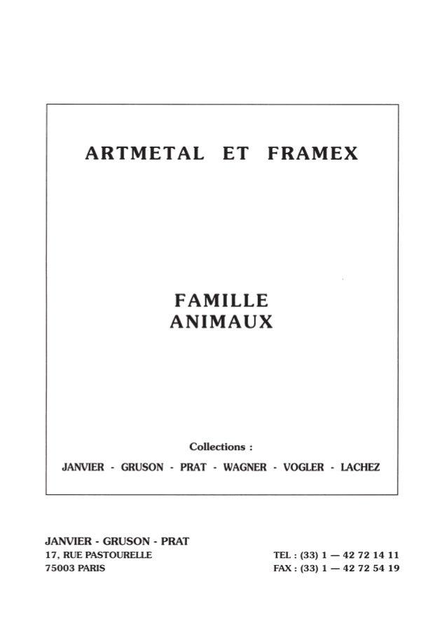 Animaux - Collection de pièces estampées ARTMETAL FRAMEX