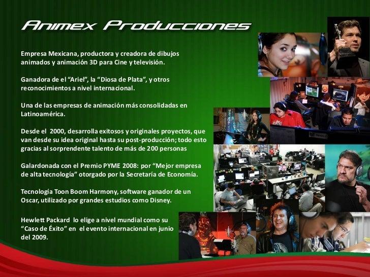 """Empresa Mexicana, productora y creadora de dibujos animados y animación 3D para Cine y televisión.<br />Ganadora de el """"Ar..."""