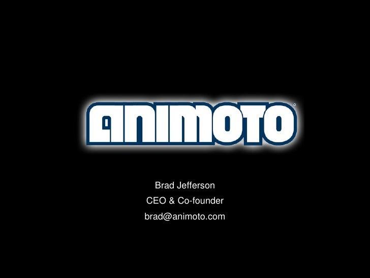 Brad Jefferson CEO & Co-founder [email_address]