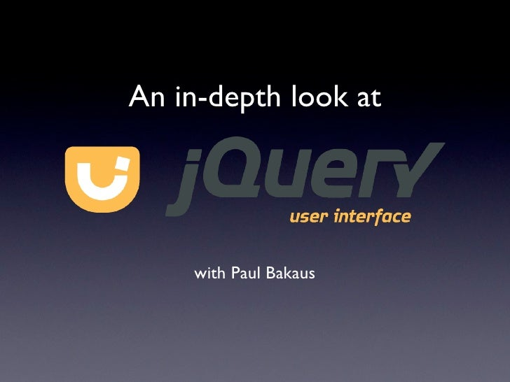 An in-depth look at jQuery UI