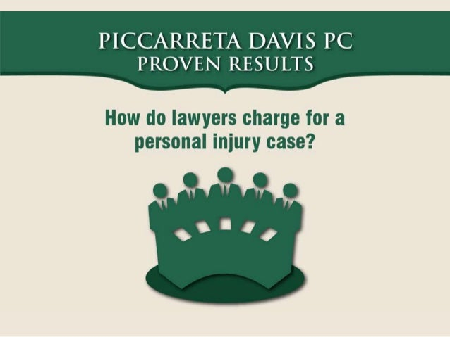An Infographic on How do Lawyers Charge for a Personal Injury Case