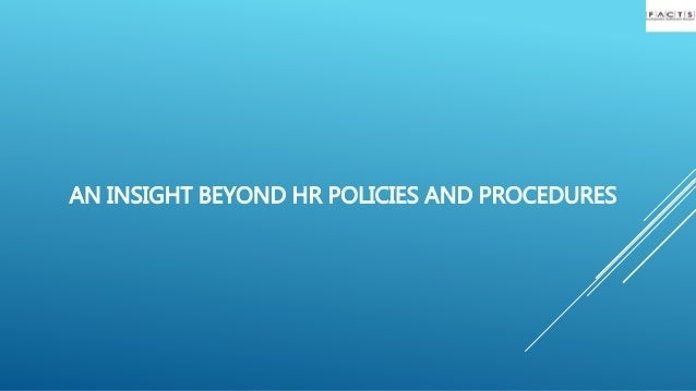 how to make hr policies and procedures