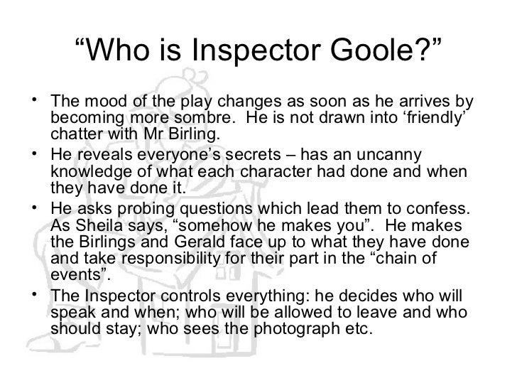 an inspector calls character profile A list of all the characters in an inspector calls the an inspector calls characters  covered include: arthur birling, sybil birling, sheila birling, eric birling, gerald.