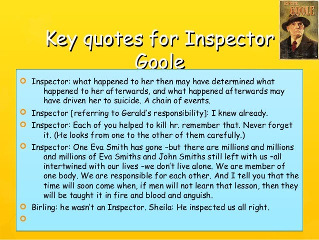 a character analysis eva smith in an inspector calls by j b priestley Sheila's character developement throughout the course of an inspector calls by jb priestley 1581 words | 7 pages sheila's character developement throughout the course of an inspector calls by jb priestley in this essay i am going to be describing how the character of sheila develops throughout an inspector calls by jb priestley.