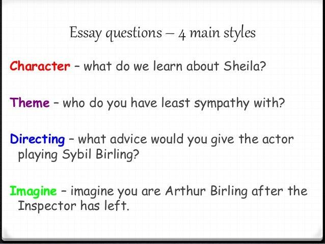 An inspector calls essay questions