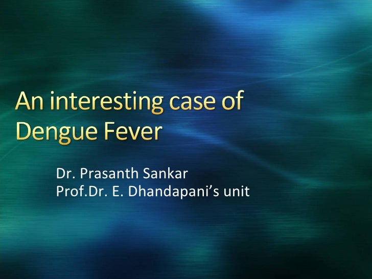 A Case Of Dengue Fever with Myocarditis
