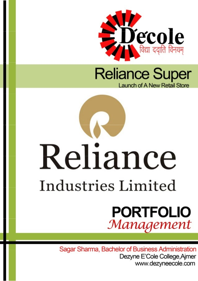 An Internship Project Report on Reliance Industries Limited