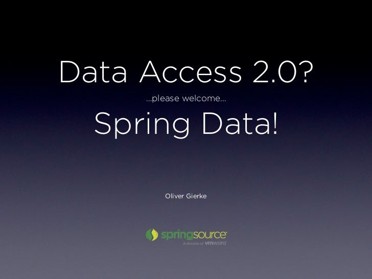 An introduction into Spring Data