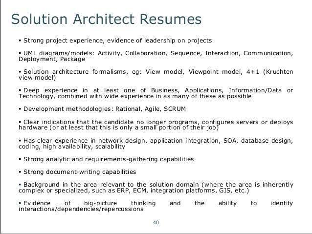 professionalresumesolutions com - Solution Architect Resume