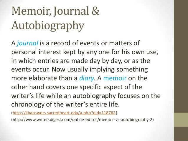 personal essay vs autobiography When does the personal essay become more than memoir in the introduction to his anthology, the art of the personal essay, philip  if you knew then what i.