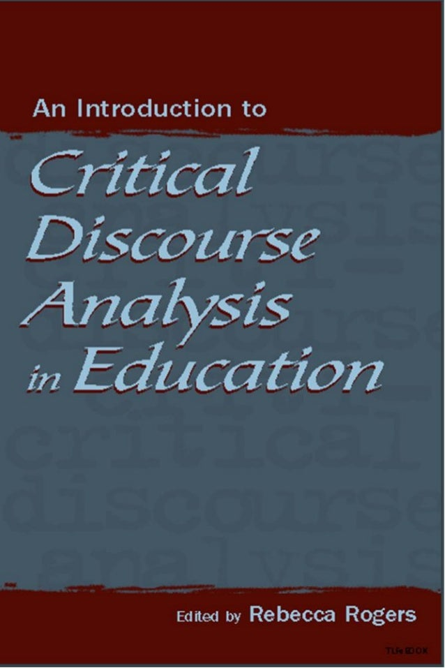 Critical discourse analysis dissertation