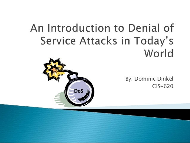 An introduction to denial of service attacks