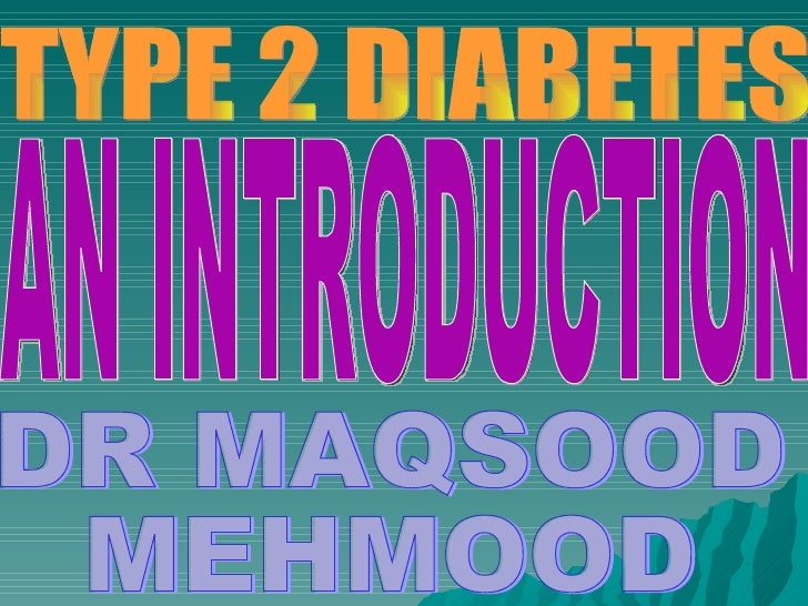 An introduction to diabetes