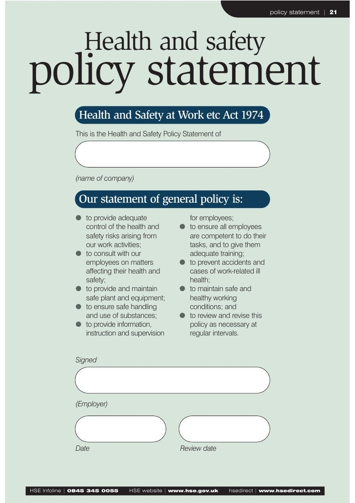 Hse Health And Safety Policy Template Health And Safety Policy Examples Pictures To Pin On Pinterest PinsDaddy