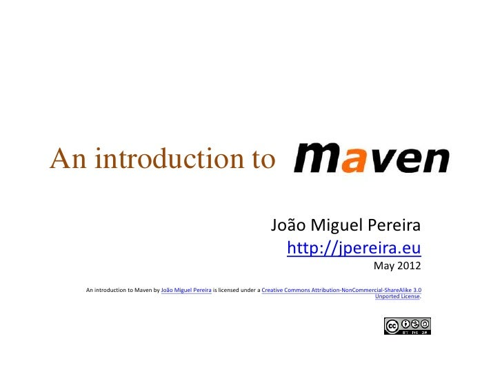 An introduction to Maven