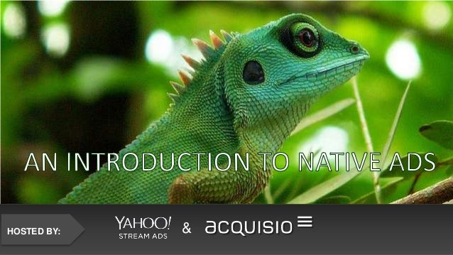 An Introduction to Native Ads by Acquisio and Yahoo!