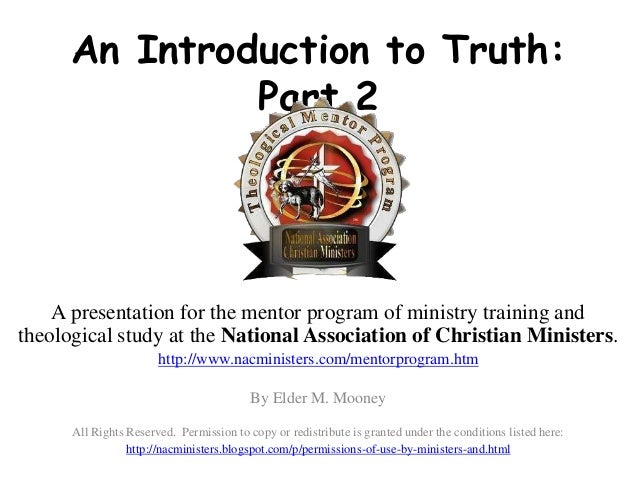 Ministry course study