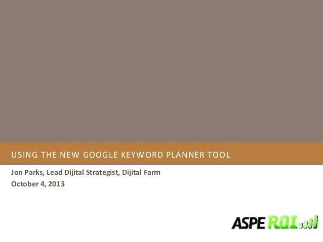 An intro to google ad words keyword planner tool