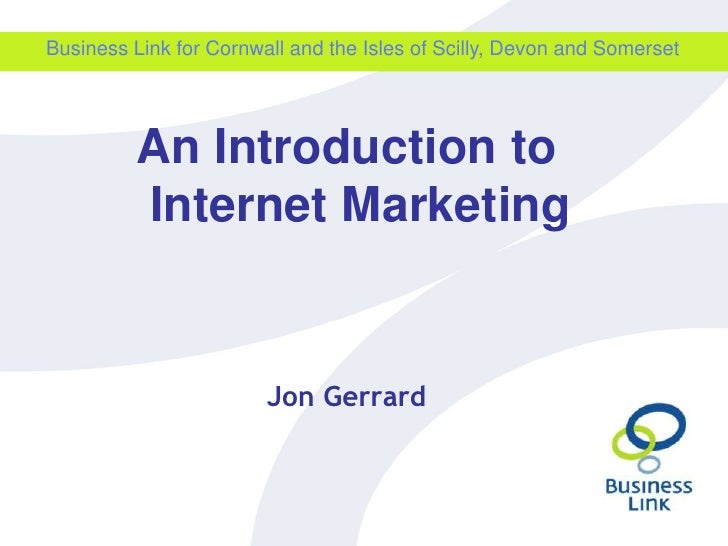 An intro to internet marketing