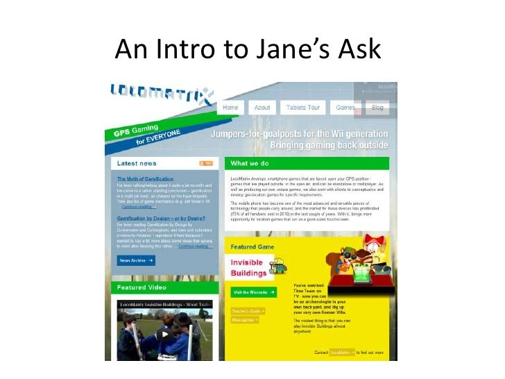 An Intro to Jane's Ask