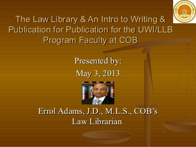 An Intro to Writing & Publication for Legal Scholarly Authors