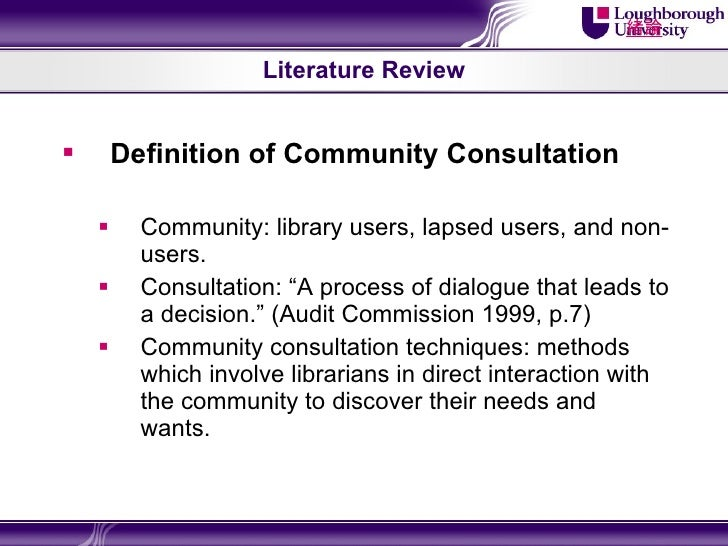 Literature review overview