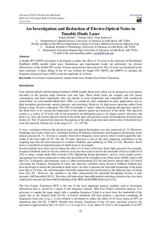 Advances in Physics Theories and Applications ISSN 2224-719X (Paper) ISSN 2225-0638 (Online) Vol.25, 2013  www.iiste.org  ...