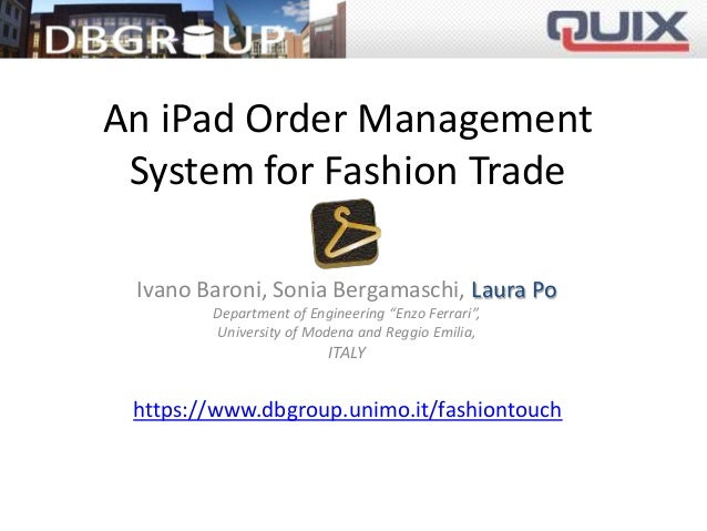 Longview trade order management system