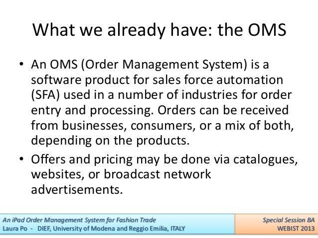 Trade order management system wiki