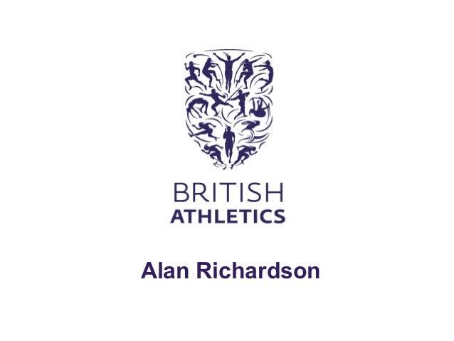 Athletics NI Coaching Conference- Alan Richardson