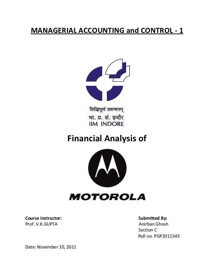 Financial Analysis of Motorola Corp.