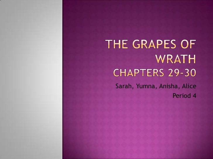 The Grapes of WrathChapters 29-30<br />Sarah, Yumna, Anisha, Alice<br />Period 4<br />