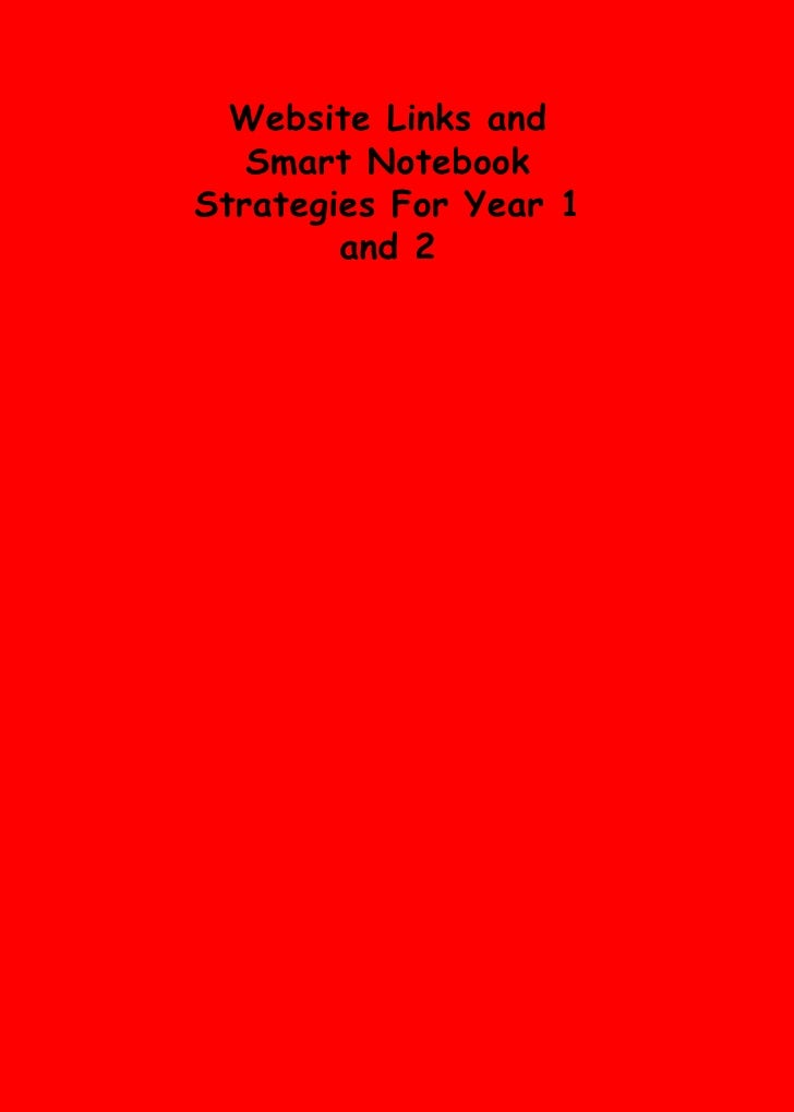 Website Links and Smart Notebook Strategies For Year 1 and 2