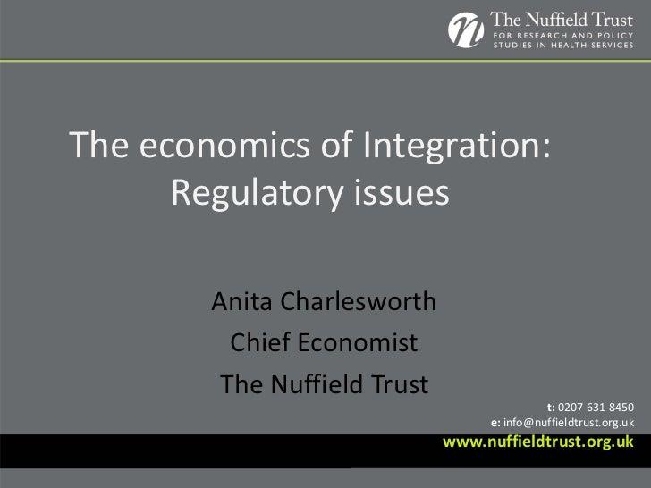 Anita Charlesworth: The economics of integration