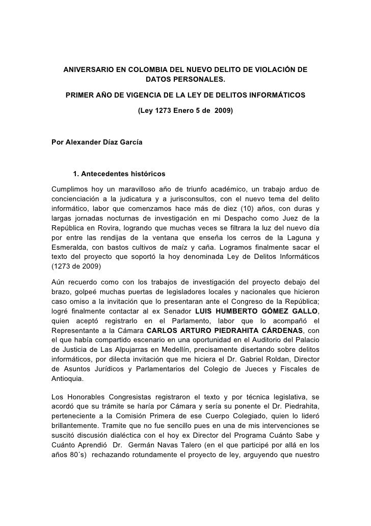Aniversario de la Ley de Delitos Informáticos en Colombia