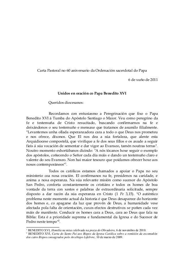 Aniversario ordenacion Papa_gallego