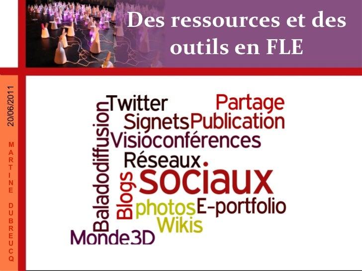 Des ressources et des outils en FLE