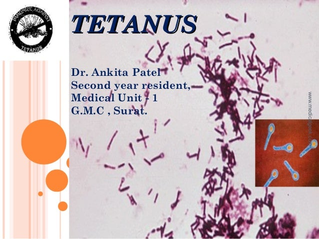 TETANUSTETANUSDr. Ankita PatelSecond year resident,Medical Unit - 1G.M.C , Surat.www.medicalgeek.com